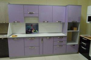Кухня прямая сиреневая - Мебельная фабрика «ДОН-Мебель»
