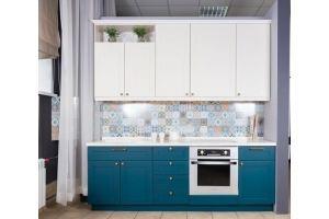 Кухня прямая Сканди Бирюза - Мебельная фабрика «Хомма»
