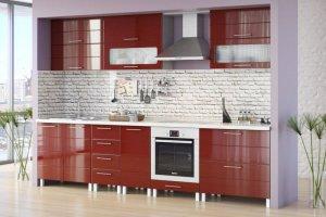 Кухня прямая Техно - Мебельная фабрика «Эко»