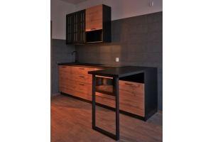 Кухня прямая в стиле Лофт - Мебельная фабрика «Лига»