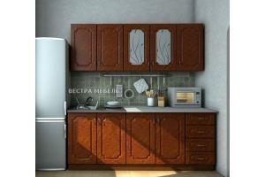Кухня прямая Валенсия Корень глянец - Мебельная фабрика «Вестра»