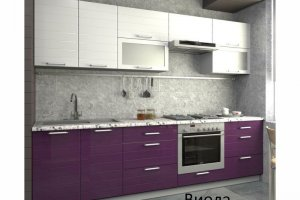 Кухня прямая глянцевая Виола - Мебельная фабрика «Вертикаль»