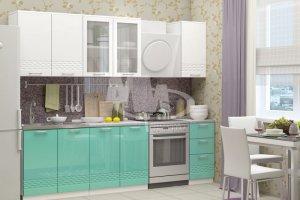 Кухня прямая Волна - Мебельная фабрика «МиФ»
