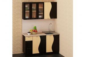 Кухня прямая Волна - Мебельная фабрика «БиГ»