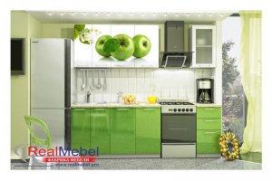 Кухня прямая Яблоко - Мебельная фабрика «RealMebel»