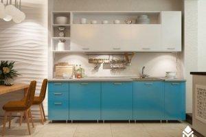 Кухня ПВХ ультрамарин - Мебельная фабрика «Северин»