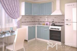 Кухня  РОЯЛВУД ГОЛУБОЙ ПРОВАНС 2 - Мебельная фабрика «Фабрика кухни РМ»