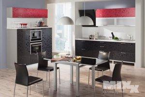 Кухня Розолина красно-черная - Мебельная фабрика «Кухни MIXX»