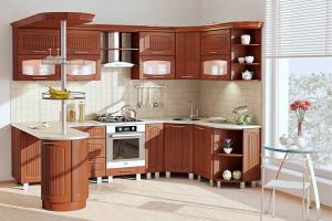Кухня с барной стойкой Сопрано - Мебельная фабрика «КомфортОН», г. Москва