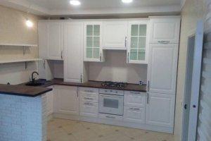 Кухня с фасадами МДФ пленка ПВХ с фрезеровкой Борго2 - Мебельная фабрика «Мебель Хаус»