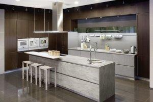 Кухня стильная с фасадами Rehau - Мебельная фабрика «Евроньюформ»