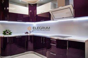 Кухня с фасадом Акрил 4 - Мебельная фабрика «ELEGRUM»