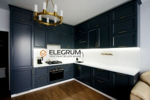 Кухня с фасадом МДФ Эмаль - Мебельная фабрика «ELEGRUM»