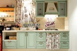 Кухня с фасадом МДФ Эмаль + патина - Мебельная фабрика «ELEGRUM»