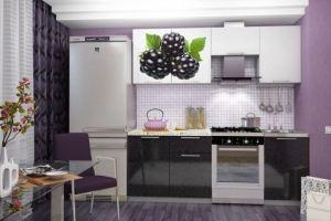 Кухня с фотопечатью Ежевика 2,1 м - Мебельная фабрика «Вавилон58»