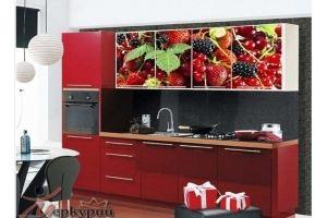 Кухня с фотопечатью Ежевика - Мебельная фабрика «Меркурий»