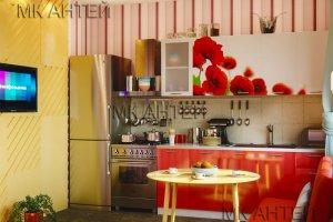 Кухня с фотопечатью Мак - Мебельная фабрика «Антей»