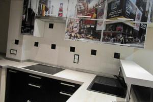 Кухня с фотопечатью New York - Мебельная фабрика «DOORSCOMFORT»