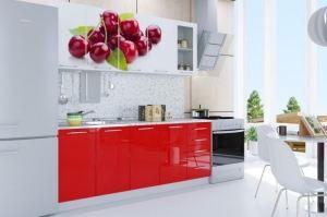 Кухня с фотопечатью Вишня - Мебельная фабрика «Вавилон 58»