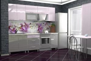 Кухня с фотопечатью Золушка 1,8 Дюны - Мебельная фабрика «Премиум»