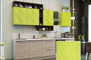 Кухня с фрезеровкой SaEn-3 - Мебельная фабрика «SaEn»
