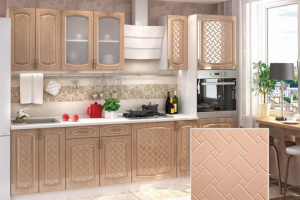 Кухня с фрезеровкой SaEn-4 - Мебельная фабрика «SaEn»