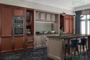 Кухня с островом Флора - Мебельная фабрика «GRETA»