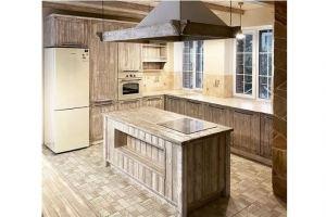 Кухня с островом массив - Мебельная фабрика «Массив»