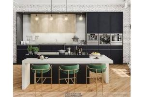 Кухня с островом Оливия Супермат - Мебельная фабрика «Кухни Премьер»