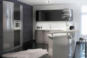 Кухня с полуостровом МДФ - Мебельная фабрика «Alva Line»