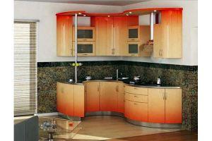 Кухня с радиусным фасадом - Мебельная фабрика «Арт Мебель»