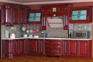 Кухня Сан-Марино, орех 1700х3600 - Мебельная фабрика «Кубань-мебель»
