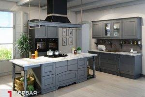 Кухня серая Орлеан  - Мебельная фабрика «Первая мебельная фабрика»
