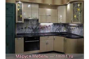 Кухня шампань из МДФ с ПВХ металлик - Мебельная фабрика «Маруся мебель»
