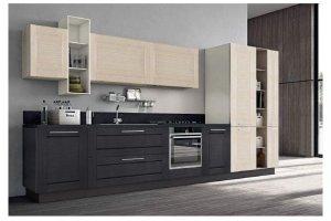 Кухня шпон Адриано рамочный 1 - Мебельная фабрика «Волжская мебель»