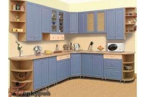Кухня синяя Ребекка - Мебельная фабрика «Меркурий»