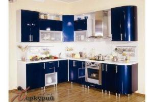 Кухня синяя Русалочка - Мебельная фабрика «Меркурий»