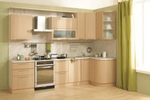 Кухня со сферическими фасадами Ангелина - Мебельная фабрика «Д.А.Р. Мебель»