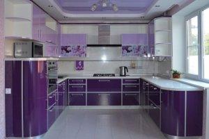 Большая фиолетовая кухня Виолетта - Мебельная фабрика «Д.А.Р. Мебель»