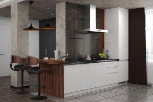 Кухня современная Алюмано Дуе - Мебельная фабрика «Ликарион»
