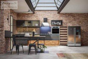Кухня современная в стиле Лофт Antro - Мебельная фабрика «Мария»