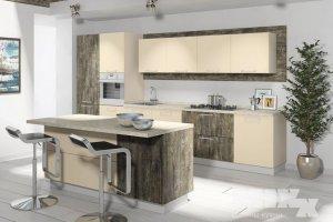 Кухня современная с островом Фратта - Мебельная фабрика «Кухни MIXX»