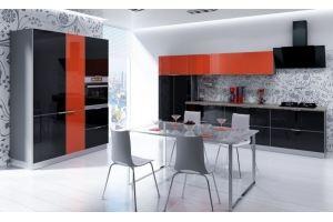 Кухня стеклянная в рамке Crista - Мебельная фабрика «AlvaLINE»