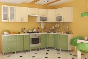 Матовая угловая кухня Светлана - Мебельная фабрика «Д.А.Р. Мебель»