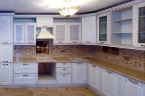 Кухня светлая угловая с фрезеровкой - Мебельная фабрика «Массив»