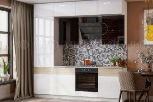 Кухня Техно 5 Белый глянец/сонома - Мебельная фабрика «МиФ»