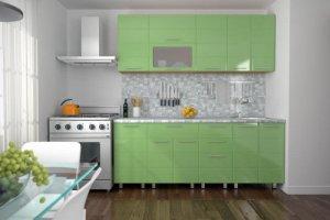 Кухня Техно салатовая - Мебельная фабрика «Эко»