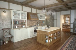 Кухня Тереза в стиле кантри - Мебельная фабрика «Кухонный двор»