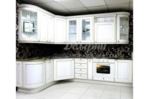 Кухня угловая белая классическая - Мебельная фабрика «Дельфин»