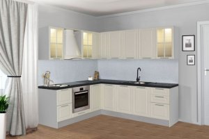 Кухня угловая белая Классика - Мебельная фабрика «Боровичи-Мебель»